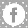 grey white polka dot facebook social media icon